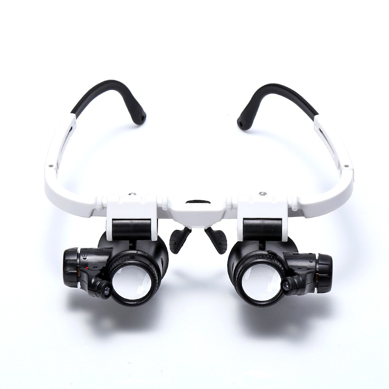 8x15x23x Double Eye Repair Illuminated Magnifying Glass LED Light