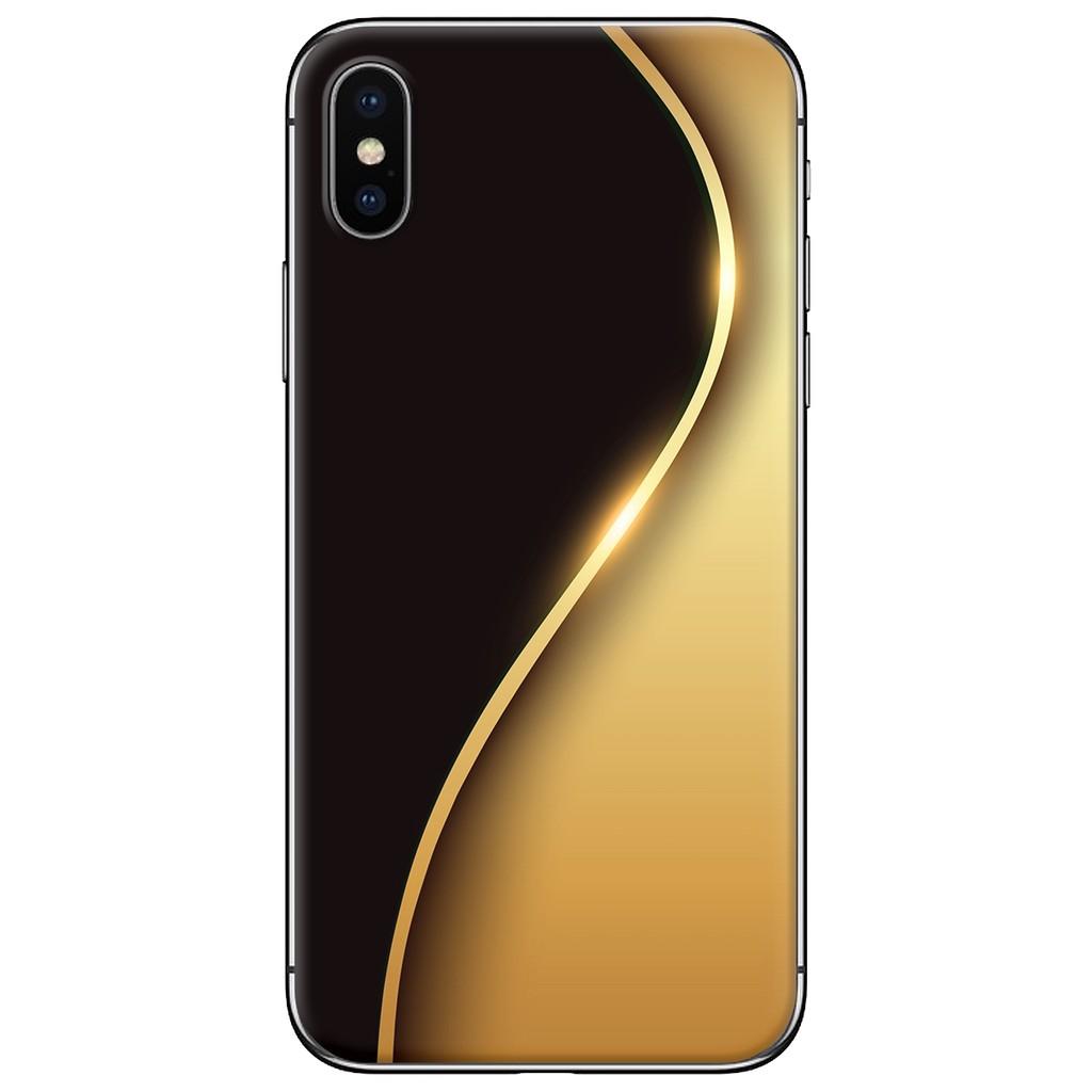 Ốp lưng iPhone X - nhựa dẻo Đường cong vàng