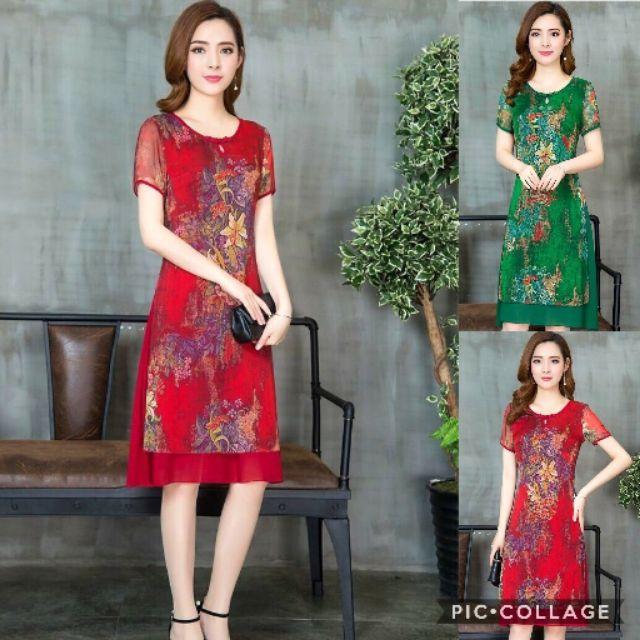 Hàng nhập - Đầm dáng xòe kiểu áo dài in hoa - 3402329 , 1216656786 , 322_1216656786 , 377000 , Hang-nhap-Dam-dang-xoe-kieu-ao-dai-in-hoa-322_1216656786 , shopee.vn , Hàng nhập - Đầm dáng xòe kiểu áo dài in hoa