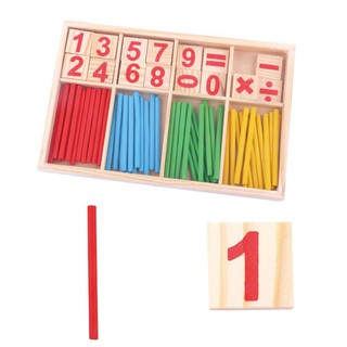 Pre-School Wooden Mathematical Intelligence Stick Early Learning Counting Toy