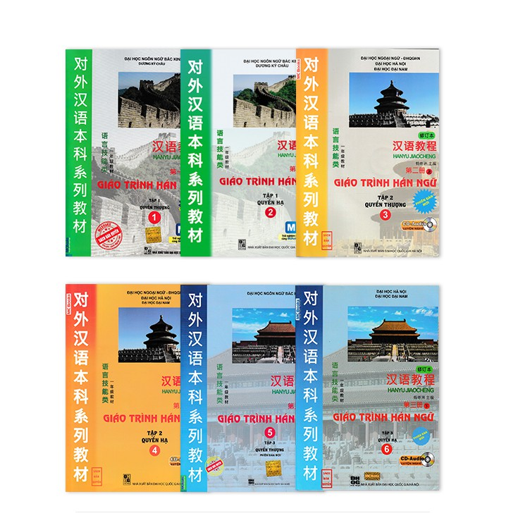 [Mã BMHOT11 giảm 15% đơn 99K] Sách - Combo Trọn Bộ 6 Cuốn Giáo Trình Hán Ngữ