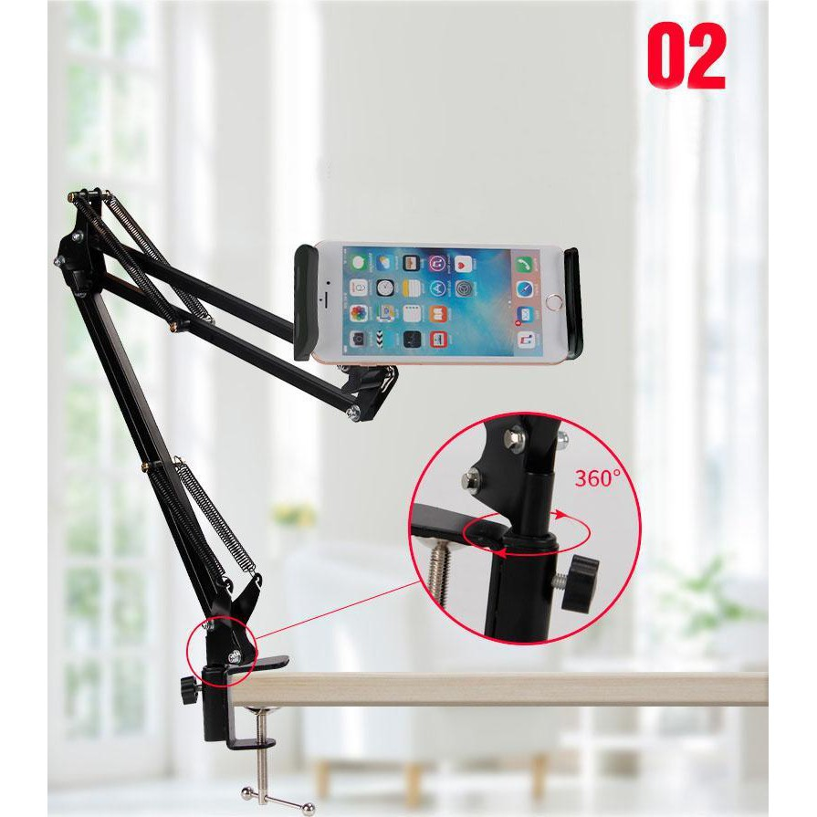 Chân kẹp bàn gắn ipad hoặc điện thoại Livestream N46 | Shopee Việt Nam