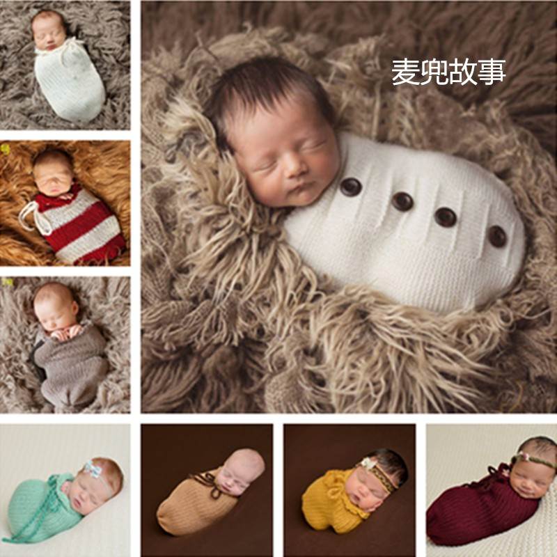 Overseas shipping European and American children's photography wrapped cloth sle