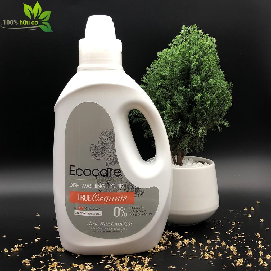 Nước Rửa Chén hữu cơ Bồ Hòn Ecocare hương Cam 2L thương hiệu Ecocare