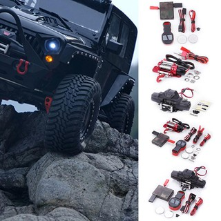 ღTAY 1/10 RC Crawler Car Axial SCX10 Double Motor Metal Winch Remote Control