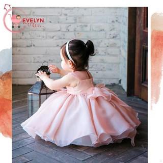 Váy Trẻ Em Công Chúa Evelyn Mã VF01 Thời Trang Cho Bé Gái 0-9 Tuổi Mặc Dự Tiệc Sinh Nhật