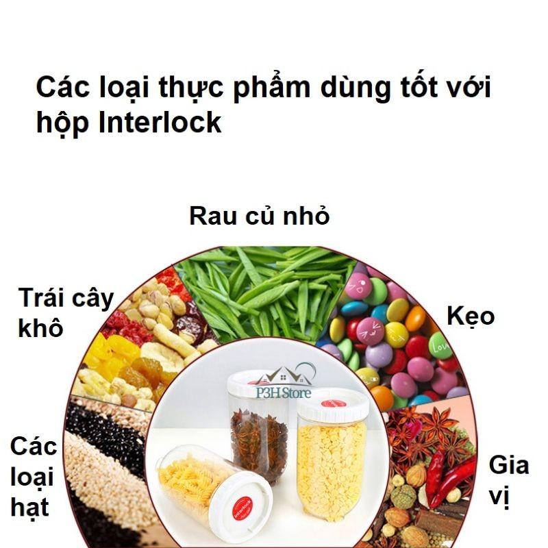 Bộ 12 hộp bảo quản thực phẩm Lock&Lock Interlock INL302S12