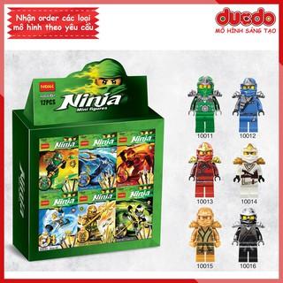 Combo 6 nhân vật Ninjago Decool 10011-10016 Đồ chơi Lắp ghép Xếp hình Minifigures Mini Ninja Mô hình thumbnail