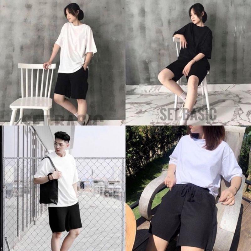 40-100kg Quần short nam nữ thời trang dáng basic bigsize