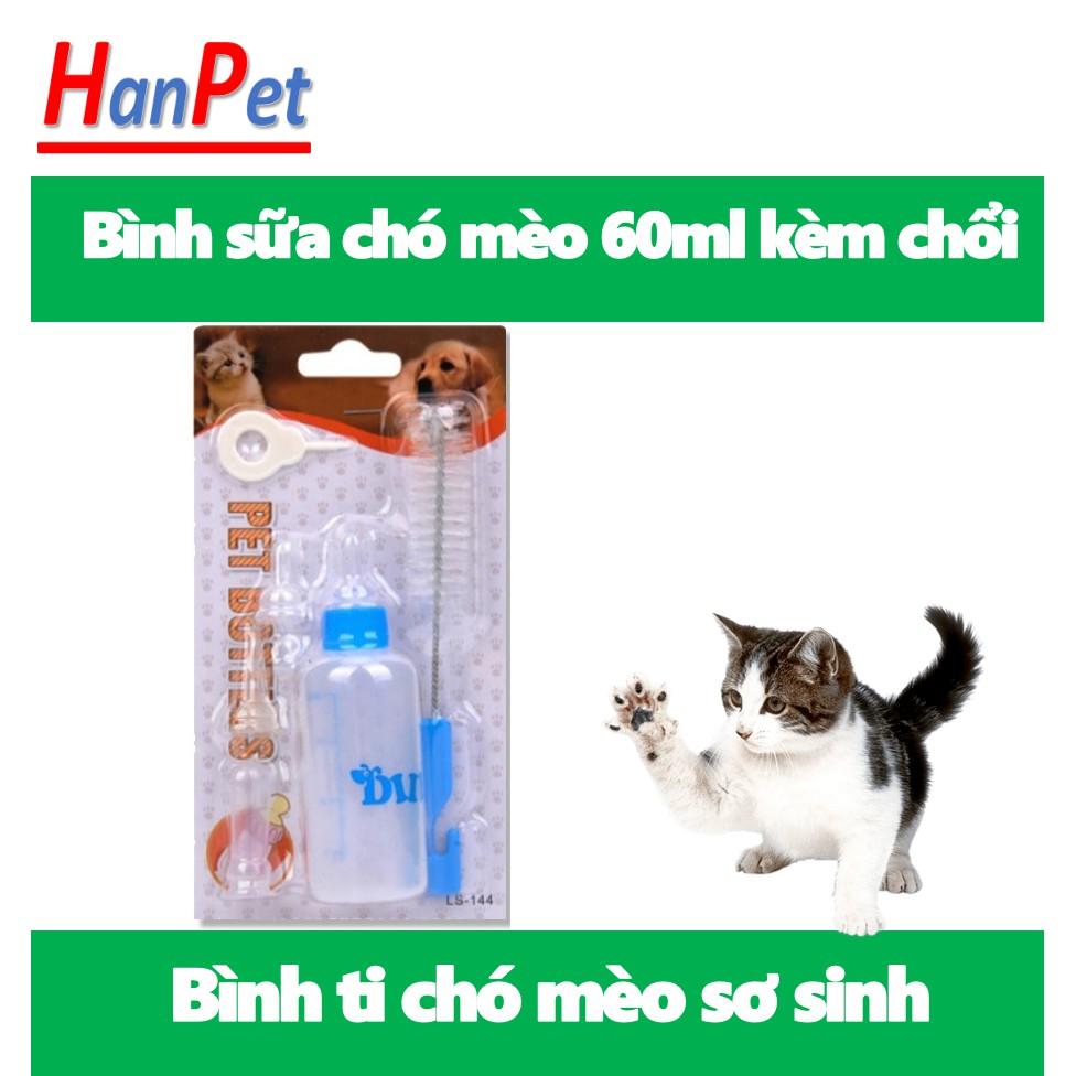 Bình ti chó mèo bú sữa ngoài Bình có núm vú mềm cho chó mèo sơ sinh uống sữa hoặc uống thuốc.|Bình xịn 150ml