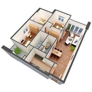 Yêu Thích(Mẫu 02) Thiết kế thi công nội thất phòng khách miễn phí - Mẫu có cầu thang (deal 1k)