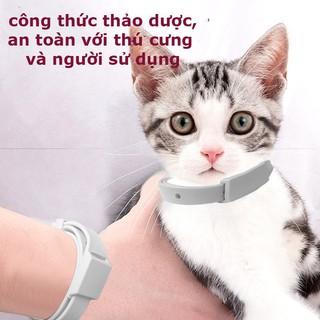 Vòng cổ chống ve rận bọ chét chó mèo - Vòng cổ chống bọ chấy trên da lông cún, mèo - không thấm nước 2