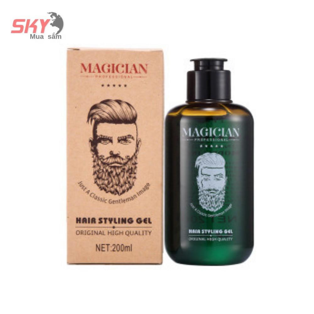 gel vuốt tóc nam cao cấp MAGICIAN [ Không Kích Ứng Da Đầu ] + [ Tặng Kèm Móc Khóa Thời Trang ]