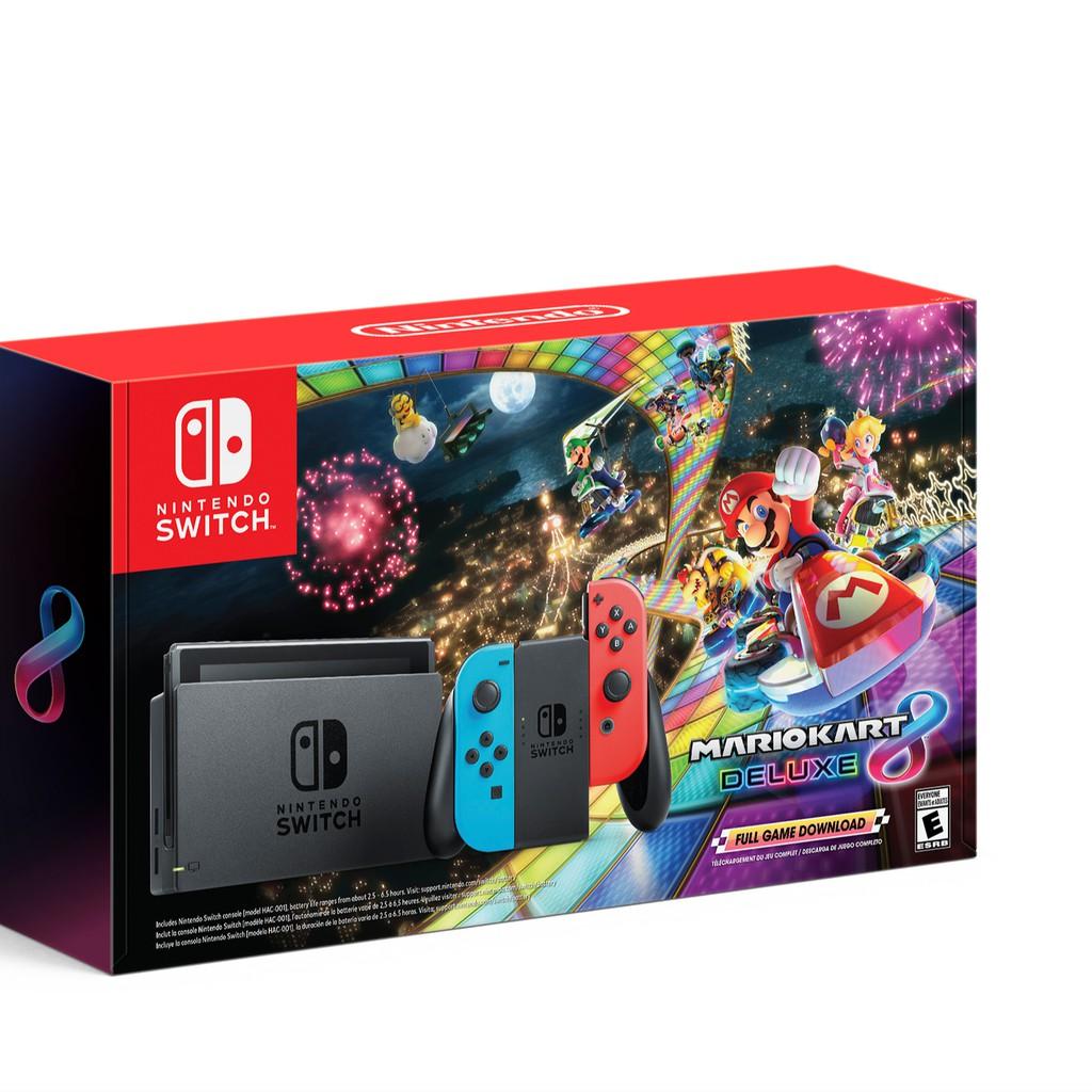 Máy chơi Game Nintendo Switch With Neon Blue Red Joy-Con Kèm Game Mario  Kart 8 Deluxe tốt giá rẻ