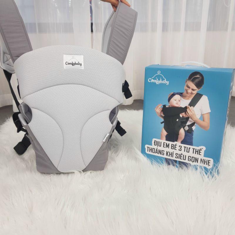 [Mã 267FMCGSALE giảm 8% đơn 500K] Địu em bé 3 tư thế thoáng khí siêu gọn nhẹ Comfy Baby