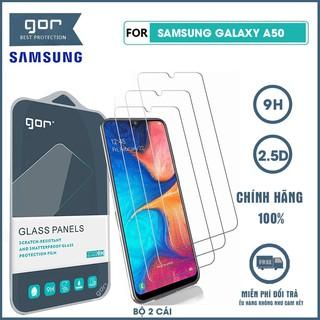 Kính cường lực Samsung Galaxy A50 nguyên gốc Gor trong suốt bộ 2 chiếc