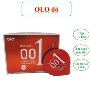 Bao cao su 0.01 OLO đỏ, bao cao su siêu mỏng 0.01mm, siêu ấm hộp 10 bcs – olo kéo dài thời gian quan hệ