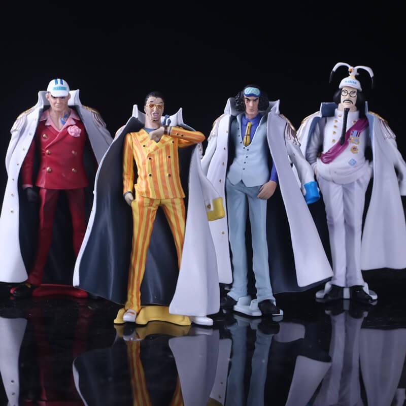 Bộ mô hình One Piece 4 đô đốc Hải Quân Sengoku, Akainu, Aokiji, Kizaru |  Shopee Việt Nam