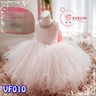 Đầm công chúa Evelyn Mã VF10 thời trang cho bé gái 0-9 tuổi mặc dự tiệc sinh nhật