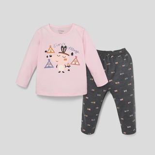 Đồ bộ BAA BABY dài tay dài quần in họa tiết cho bé gái từ 1-7 tuổi - GT-DB05D thumbnail