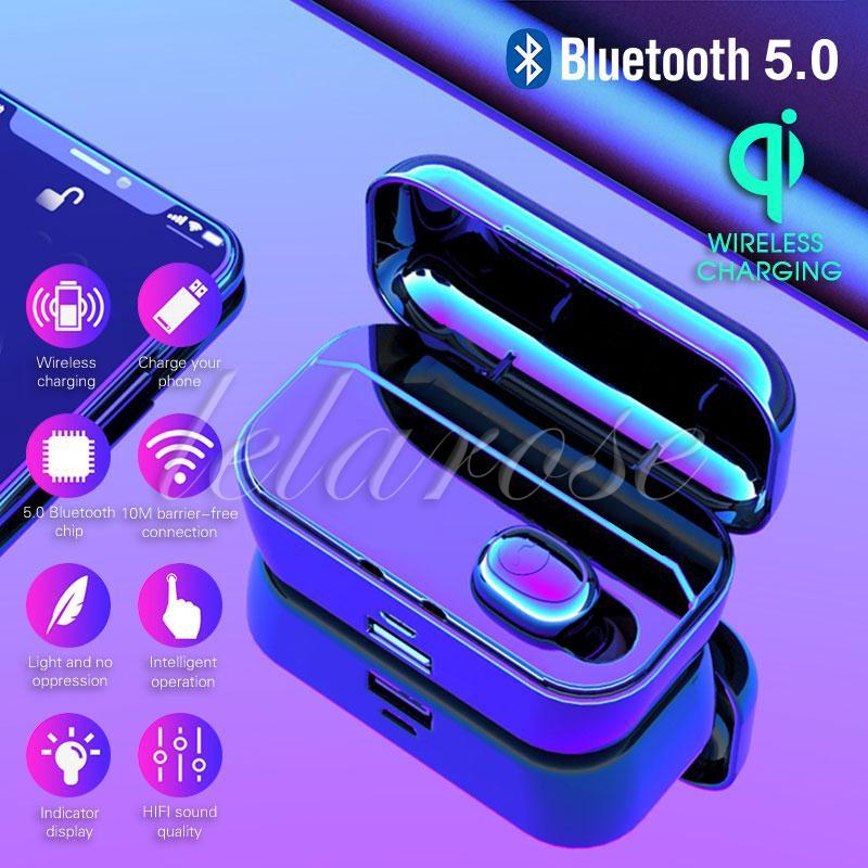 Tai nghe mini bluetooth không dây âm thanh Stereo có hộp sạc