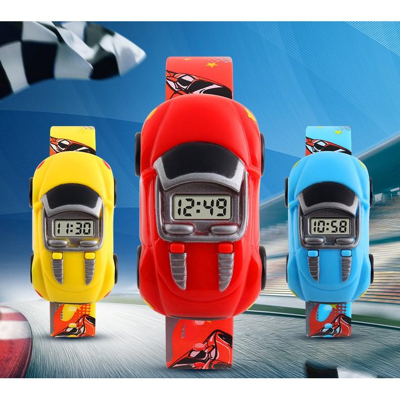 Đồng hồ trẻ em bé trai Skmei 1241 điện tử thời trang hình ô tô dây silicon