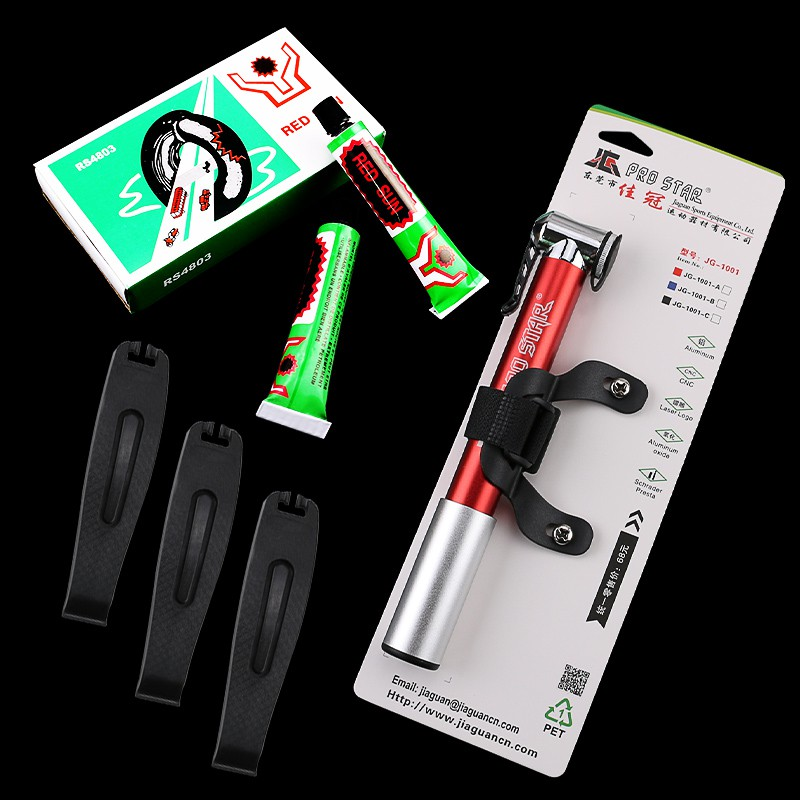 Full 188 shipments mountain bike tire repair kit tire spoon tire inner tube glue cold film patch accessories package
