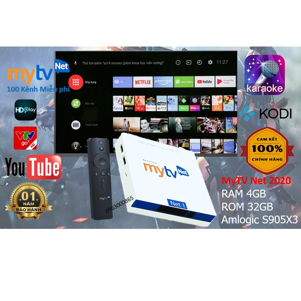 Android TV Box MyTV NET 4G-2020 200 kênh truyền hình, Có điều khiển giọng nói - Sản phẩm Chính