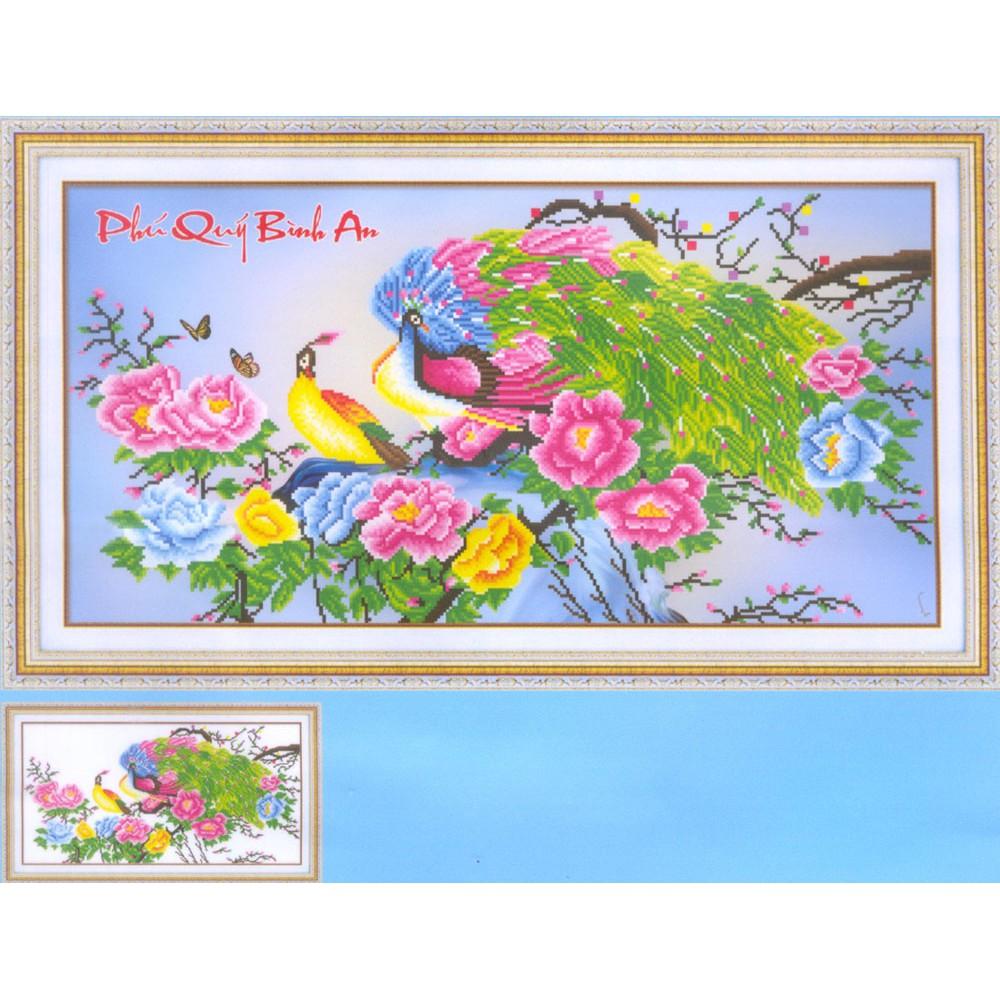 Tranh thêu chữ thập kết hạt đá và nhụy hoa ruy băng Phú Quý Bình An - 3188055 , 658452047 , 322_658452047 , 134000 , Tranh-theu-chu-thap-ket-hat-da-va-nhuy-hoa-ruy-bang-Phu-Quy-Binh-An-322_658452047 , shopee.vn , Tranh thêu chữ thập kết hạt đá và nhụy hoa ruy băng Phú Quý Bình An