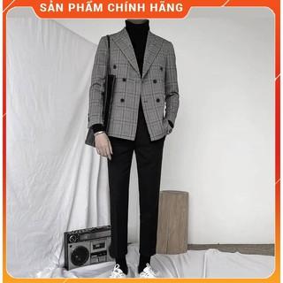 [HÀNG CAO CẤP] Vest nam – Áo vest nam Hàn Quốc kẻ caro chất vải cotton mềm 2 lớp dày dặn, hàng chính hãng