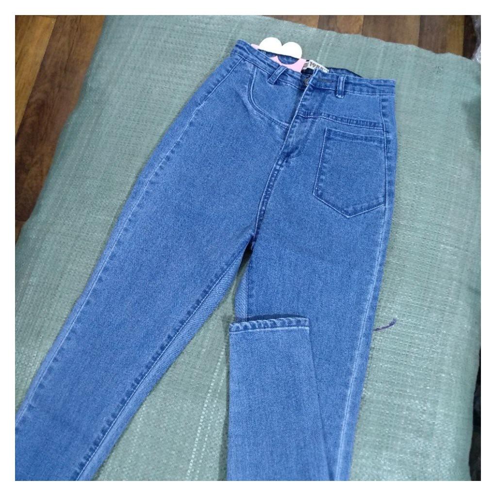 Quần jean nữ lưng siêu cao 2 MÀU HÌNH THẬT 10202