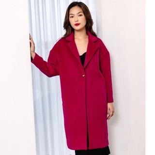 Áo măng tô hồng đậm đính thiết kế Elise thumbnail