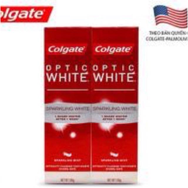 Bộ 2 kem đánh răng Colgate Optic White làm trắng răng 100g - 2574730 , 865605356 , 322_865605356 , 99000 , Bo-2-kem-danh-rang-Colgate-Optic-White-lam-trang-rang-100g-322_865605356 , shopee.vn , Bộ 2 kem đánh răng Colgate Optic White làm trắng răng 100g