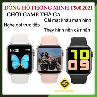 [Bản siêu cấp 2021] Đồng Hồ Thông Minh T500 Seri 6 Chơi game, cài mật khẩu, thay ảnh tùy ý Nghe gọi trực tiếp size 44mm