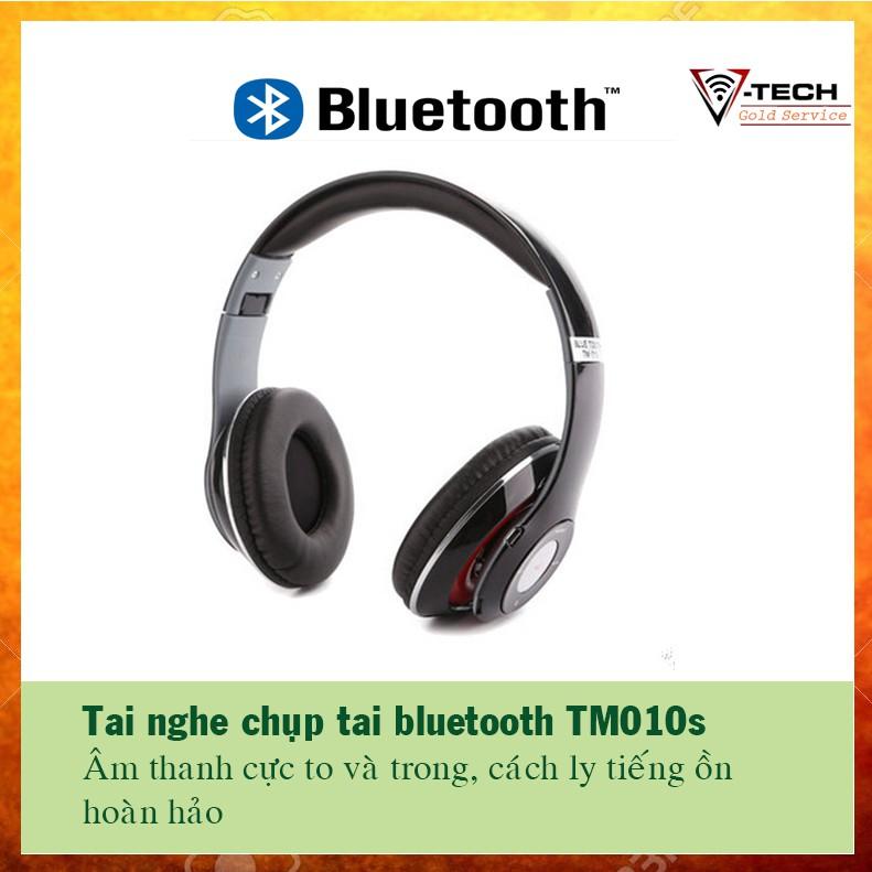 TAI BLUETOOTH TM010 CHỤP TAI cách ly âm cực tốt, bluetooth 10m