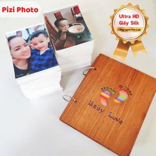In 100 ảnh 6.9 Ultra HD - Công nghệ in ProLab - giấy lụa cao cấp + Album gỗ