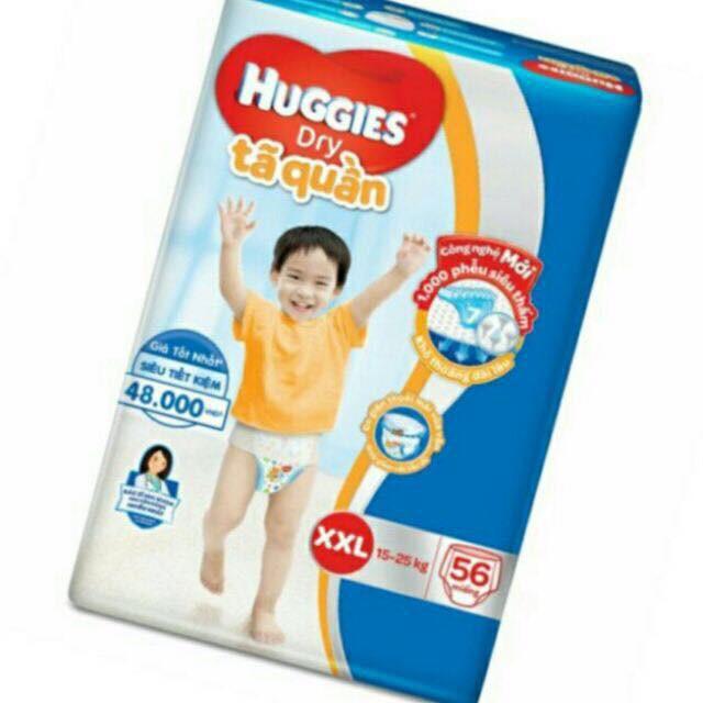 Tã quần Huggies super dry jumbo sz XL62+7