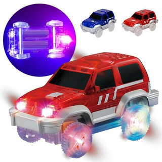 Clear Tracks Glow Cars Toys Amazing Racetrack Models Toy Light Up Car Kids