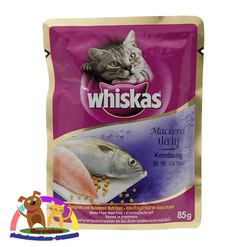 Pate cho mèo whiskas vị cá thu gói 85g