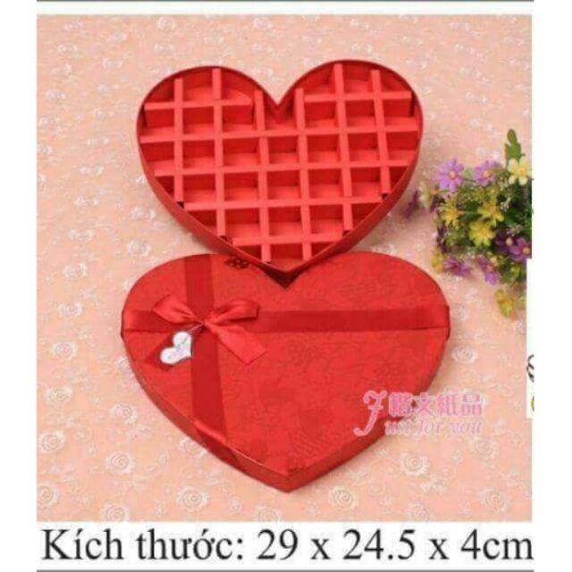 Hộp socola valentine 27 ô