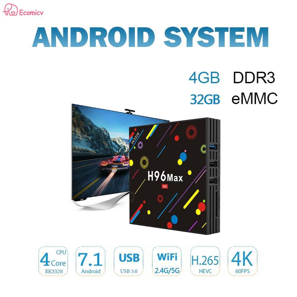 Đầu TV Box thông minh H96 Max H2 4GB+32GB 4K Android Wifi không dây