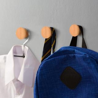 Móc treo quần áo Vivudecor gỗ gắn tường decor trang trí phòng ngủ hình nón