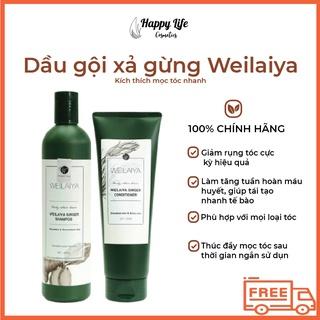 Bộ dầu gội xả gừng Weilaiya giảm rụng, kích mọc tóc nhanh – HAPPY LIFE COSMETICS