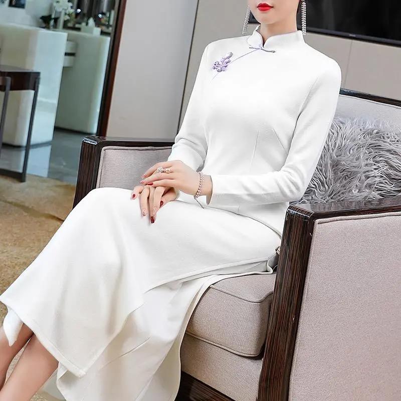 Đầm Sườn Xám Cách Tân Phong Cách Retro Trung Hoa Cho Nữ