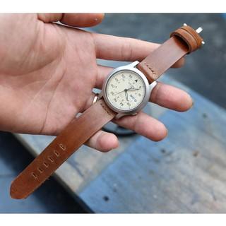 Dây đồng hồ da bò sáp handmade tặng kèm khóa