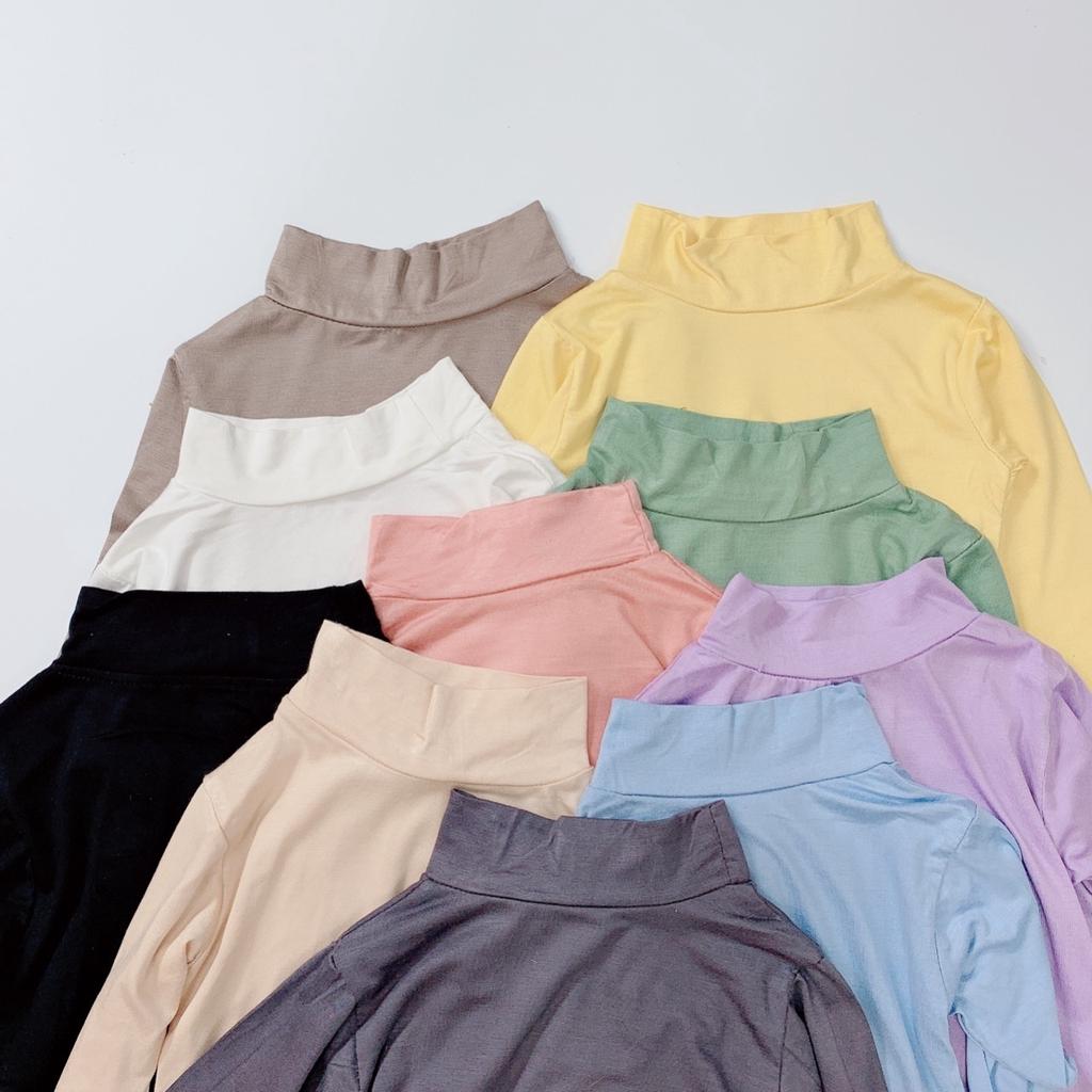 Áo bún cổ cao vải thun lạnh QATE589 cho bé sơ sinh tới 18kg