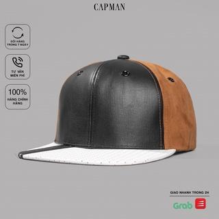 Mũ snapback chính hãng CAPMAN, phong cách hiphop vải da CM50 thumbnail