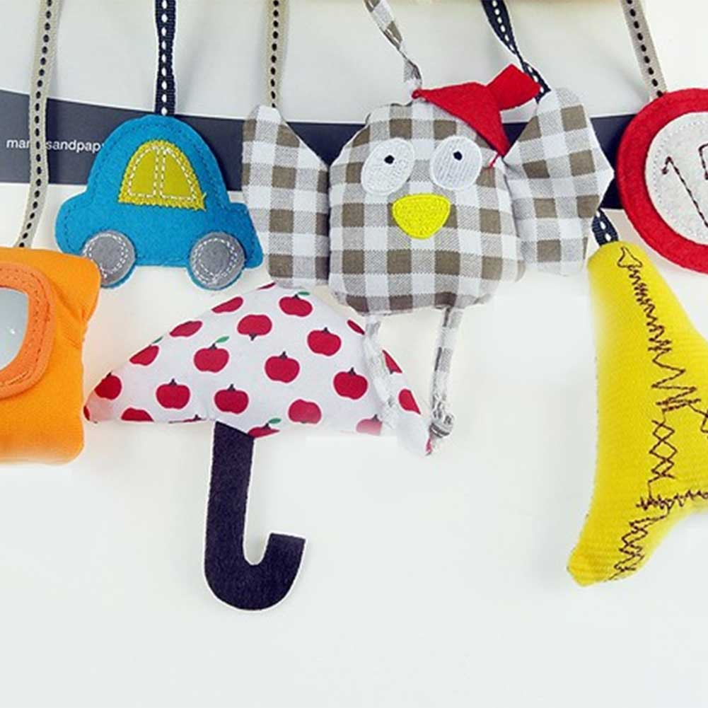 Owl Baby Music Car Hanging Bed Around Safety Seat Pendant Plush Toys