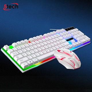Bàn Phím Gaming Kèm Chuột Có Đèn Led 7 Màu G21, Phím Giả Cơ Led Siêu Đẹp Chuyên Chơi Game, Văn Phòng Cho Máy Tính Laptop
