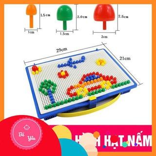 Đồ chơi xếp hình nấm thông minh 296 chi tiết cho bé , sản phẩm chất lượng, an toàn
